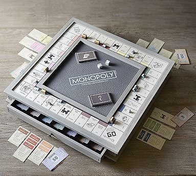 Wooden Monopoly Board Game - Luxury Edition