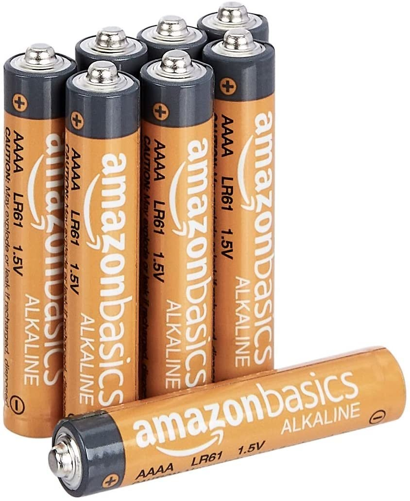 AmazonBasics AAAA 1.5 Volt Everyday Alkaline Batteries - Pack of 8