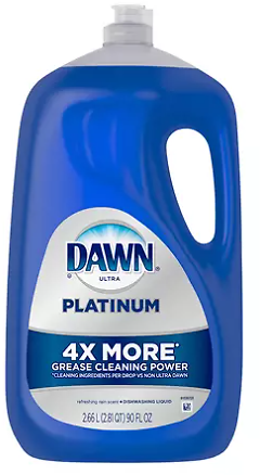 Dawn Platinum Dishwashing Liquid Dish Soap 90 ozp 90 oz