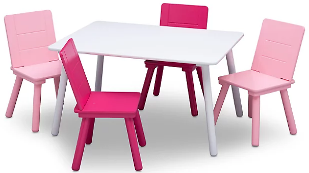 Delta Children Kids Table and 4 Chair Bundle | Ashley Furniture HomeStore