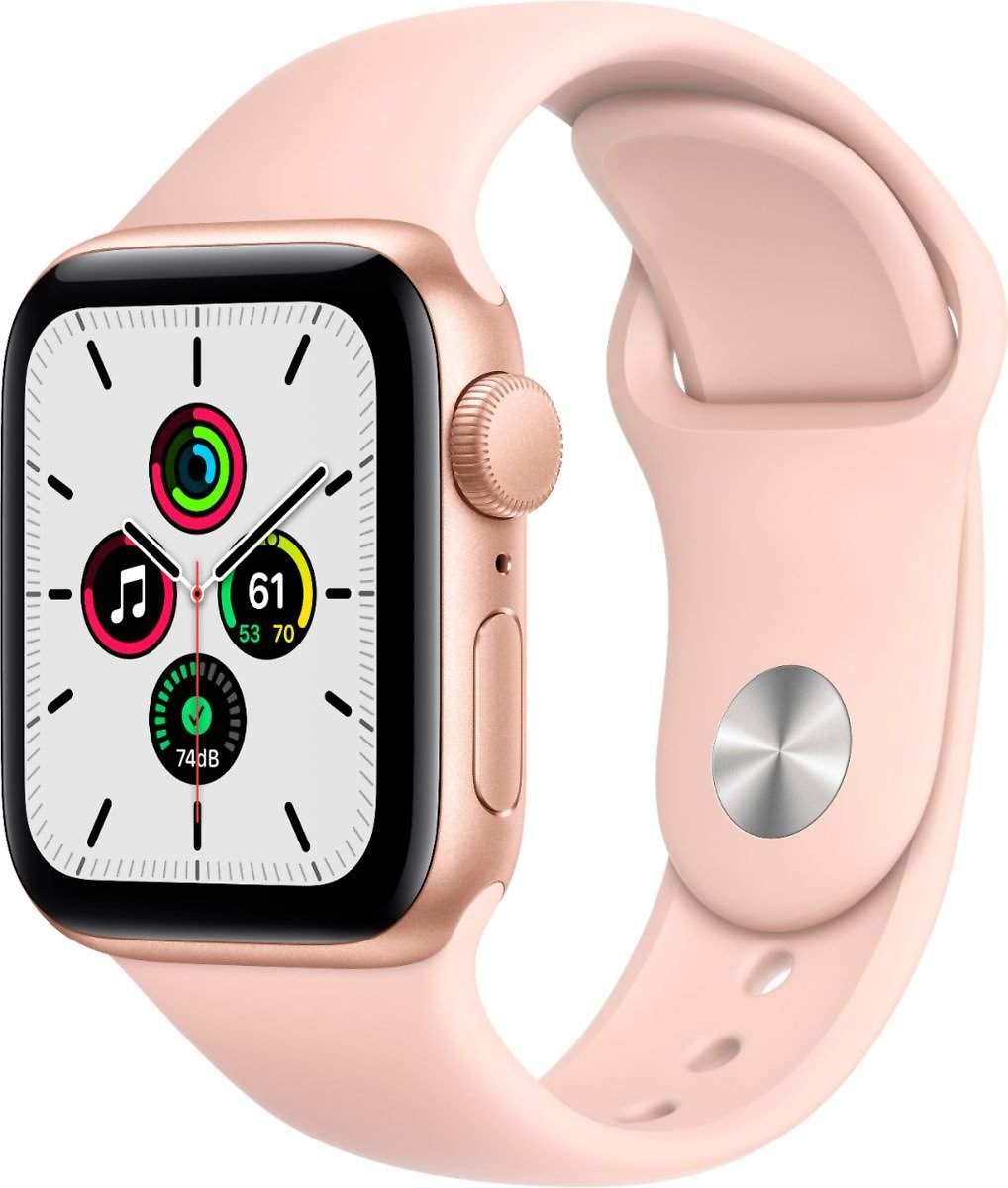 Apple Watch SE (GPS) 40mm Gold Aluminum Case with Pink Sand Sport Band Gold MYDN2LL/A