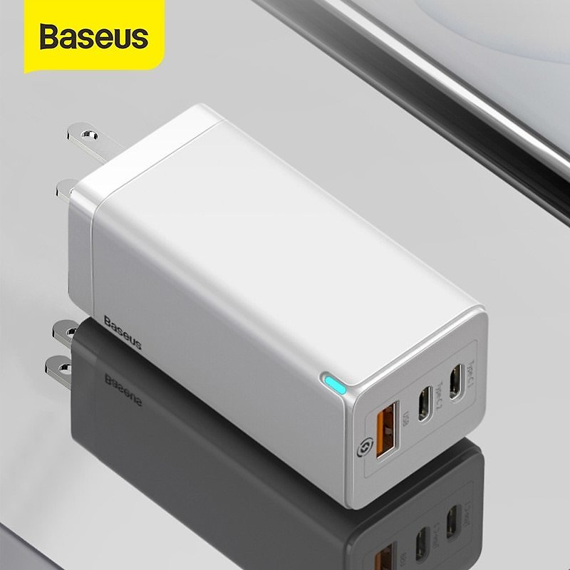 US $35.28 50% OFF|Baseus 65W GaN USB Fast Charger Quick Charge 3.0 For IPhone 11 PD3.0 US Plug Support FCP AFC SCP QC 3.0 For Samsung S10 Xiaomi|Mobile Phone Chargers| - AliExpress
