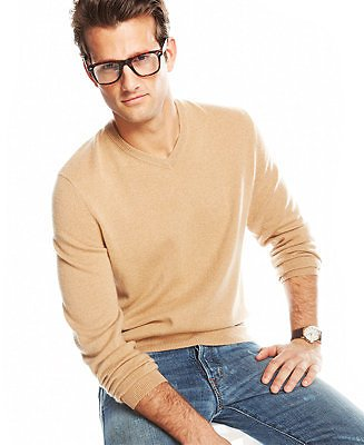 Club Room Cashmere V- Neck and Crew Neck Sweaters, Created for Macy's & Reviews - Men's Brands - Men