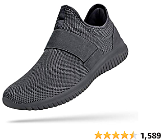 Troadlop Mens Sneakers Slip On Mens Laceless Tennis Shoes Knitted Breathable Running Walking Athletic Shoes