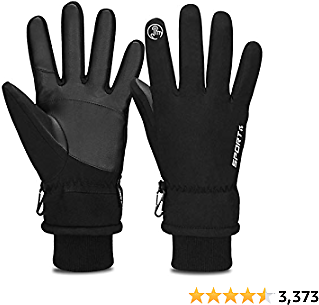 Cevapro -30℉ Winter Gloves Touchscreen Gloves Thermal Gloves, Waterproof, Durable and Warmer Material, PU Leather for Great Grip