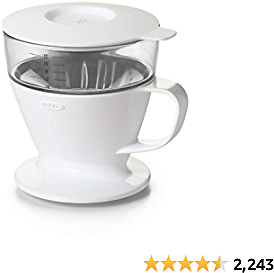 OXO Brew Single Serve Dripper Water Tank Good Grips Auto-Drip Pour-Over Coffee Maker, 1, White