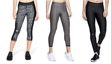 Under Armour Tech Cropped Yoga Athletic Gym Pants Joggers
