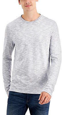 Michael Kors Men's Long-Sleeve Reverse-Print Crew Neck T-Shirt