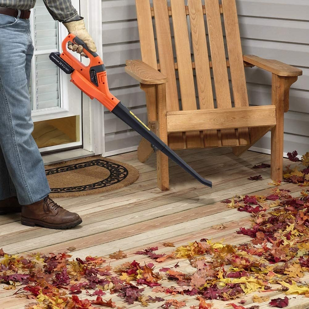 Cordless String Trimmer and Leaf Blower Sweeper