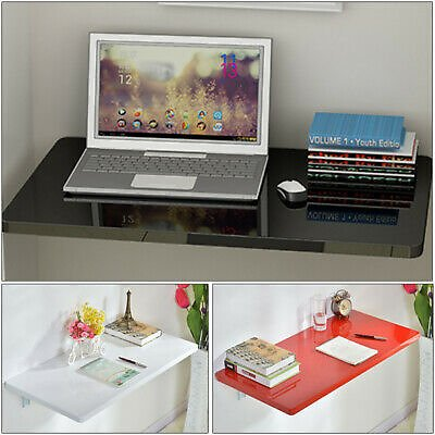 Floating Wall Mount Laptop Computer White Desk Workstation Table Home Office 689249884789