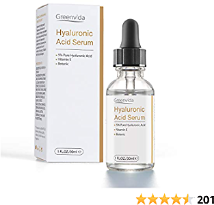 Hyaluronic Acid Serum for Face 1oz, Pure Organic HA Hydrating Serum Prevent Aging Wrinkle, Moisturizer for Dry Skin and Fine Lines Non-greasy Smooth All Skin