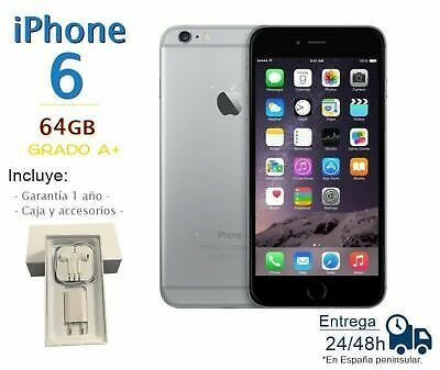 IPHONE 6 64GB Black Reconditioned / Grade A Box And Accessories