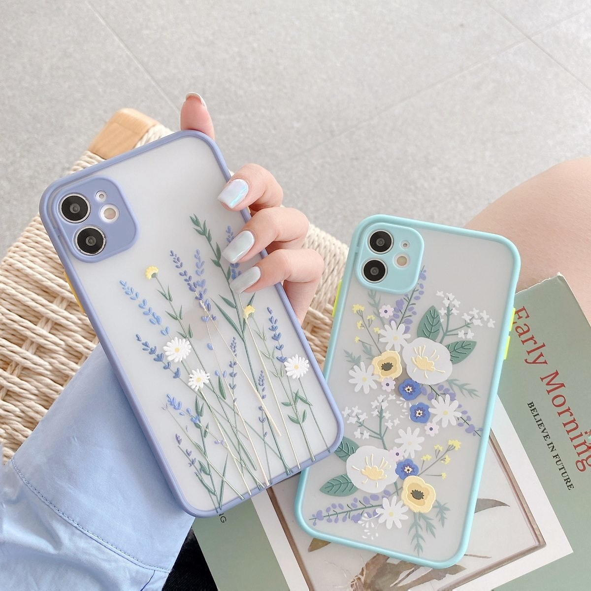 US $3.12  Luxury 3D Relief Flower Case For IPhone 12 Mini 11 Pro Max X XR XS Max 7 8 Plus Soft Bumper Transparent Matte PC Back Cover Fitted Cases  - AliExpress