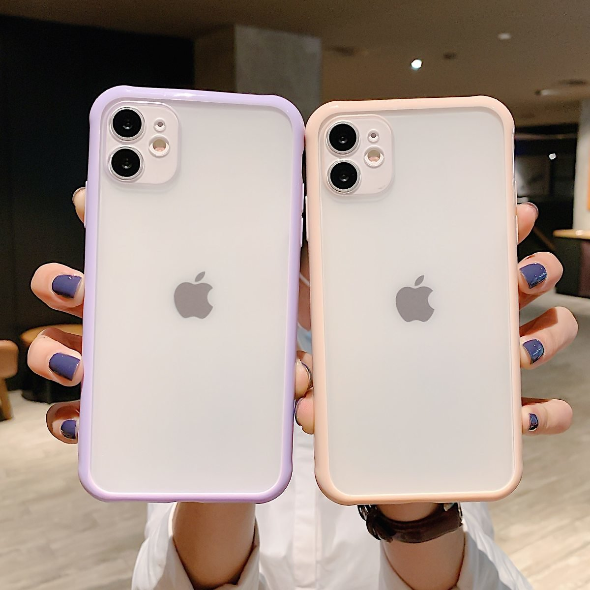 US $1.64 33% OFF|Shockproof Armor Transparent Phone Case For IPhone 12 11 Pro X Xs MAX XR 6 6s 7 8 Plus Camera Protection Candy Color Cover Case|Fitted Cases| - AliExpress