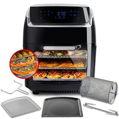 Modernhome Aria 10 Qt. Air Fryer with Accessory Set in Black