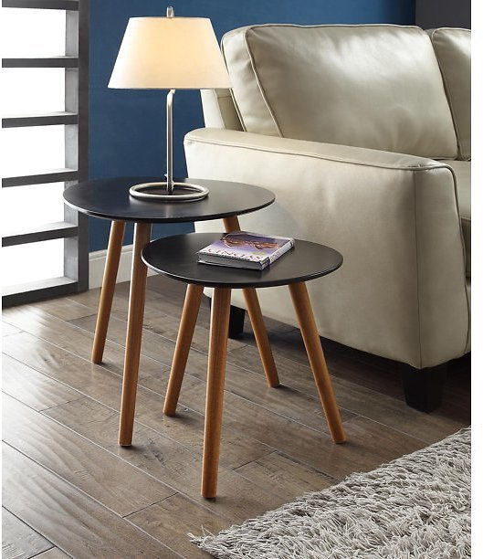 Convenience Concepts No Tools Oslo Nesting End Tables, Mutliple Colors