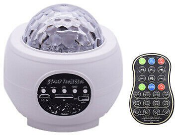 2020 LED Galaxy Projector Starry Music Night Light Star Sky Projection Lamp USB