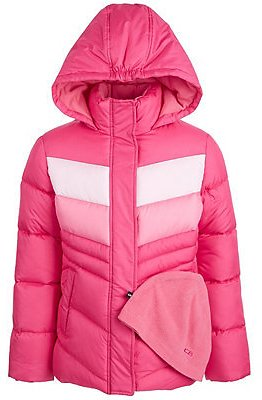 CB Sports Big Girls Colorblocked Puffer Coat (2 Colors)
