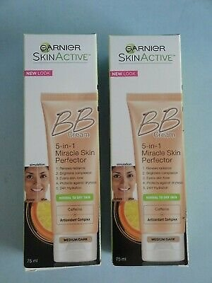 Two Pack Garnier Skin Renew Miracle Perfector BB Cream Medium/Dark 2.5 Oz / 75ml