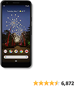 Google - Pixel 3a with 64GB Memory Cell Phone - Just Black, Chrome OS, Android, 5.6 Inches