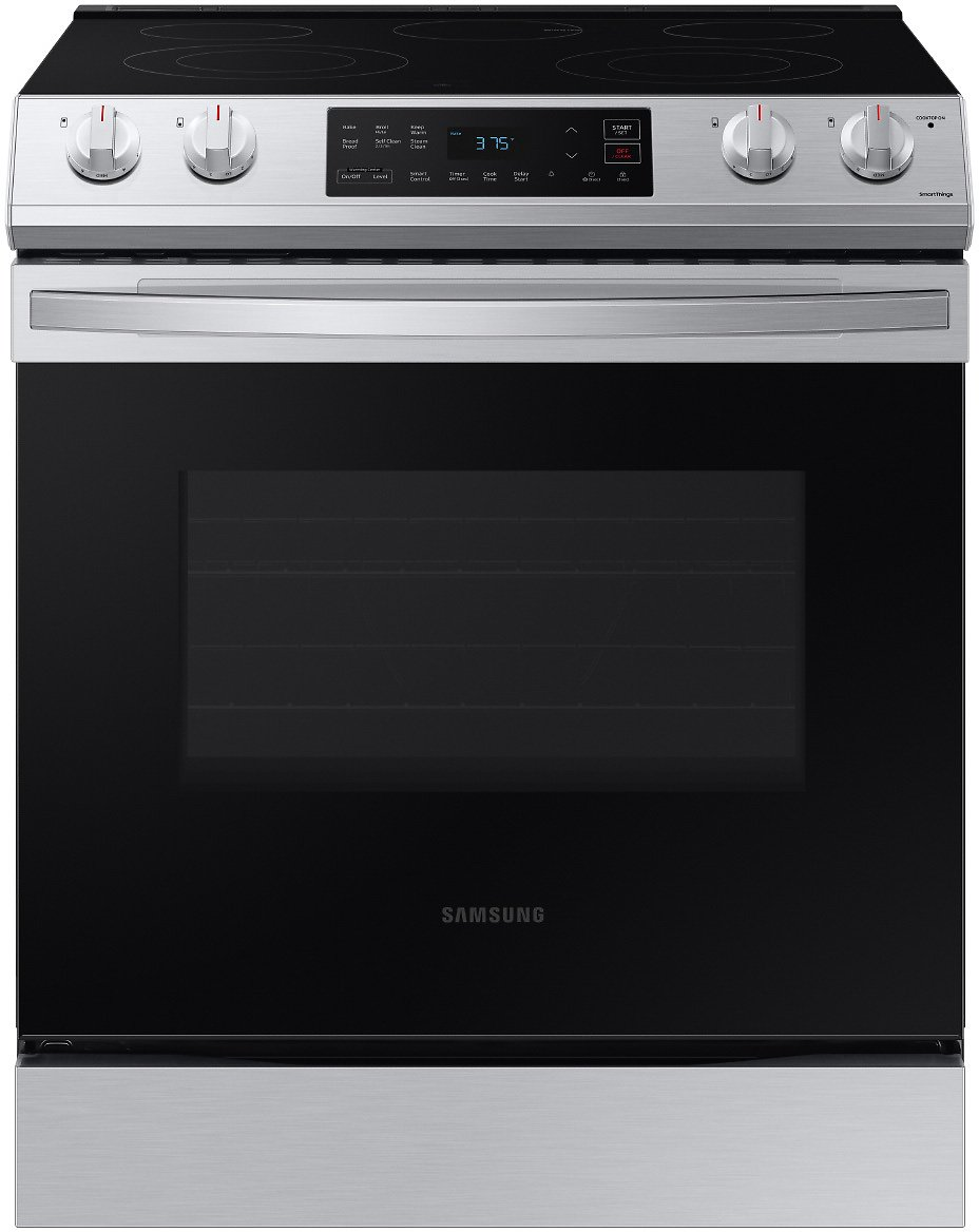 6.3 Cu. Ft. Front Control Slide-In Electric Range in Stainless Steel Ranges - NE63T8111SS/AA | Samsung US