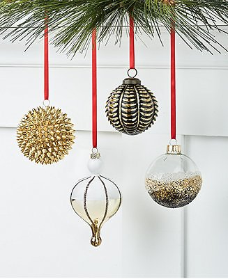 Holiday Lane Black Tie Ornament Collection, Created for Macy's & Reviews