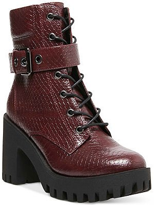 Madden Girl Coco Lace-Up Lug Sole Booties & Reviews - Boots - Shoes