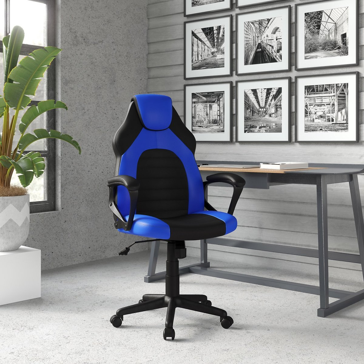 Lifestyle Solutions Omaha Gaming Office Chair with Faux Leather (4 Colors)