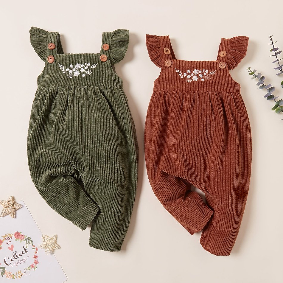 Baby Girl Floral Overalls