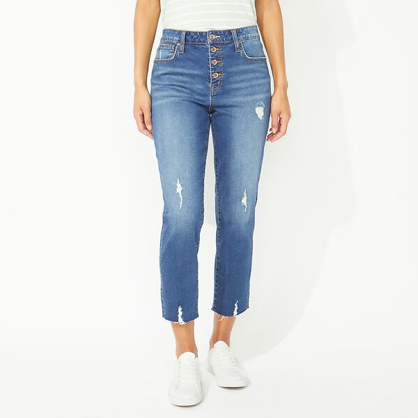 NAUTICA JEANS CO. STRAIGHT HIGH RISE CROP DENIM