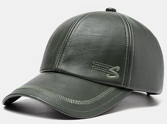 Collrown Men Faux Leather Casual Retro Letter Pattern Leather Sunshade Baseball HatMen's AccessoriesfromApparel Accessorieson Banggood.com