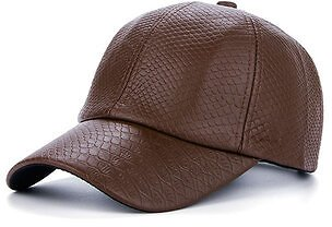 Men Retro Crocodile Grain PU Leather Baseball Cap Casual Outdoor Adjustable Golf Cap Men's Accessories from Apparel Accessories on Banggood.com