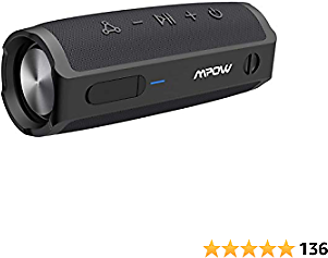 Portable Bluetooth Speaker, MPOW R9 Wireless Speaker with 360°TWS Surround Sound, 16W Stereo Sound, 10H Playtime, IPX7 Waterproof Speaker, Bluetooth 5.0, Portable Speaker for Outdoors, Home and Party