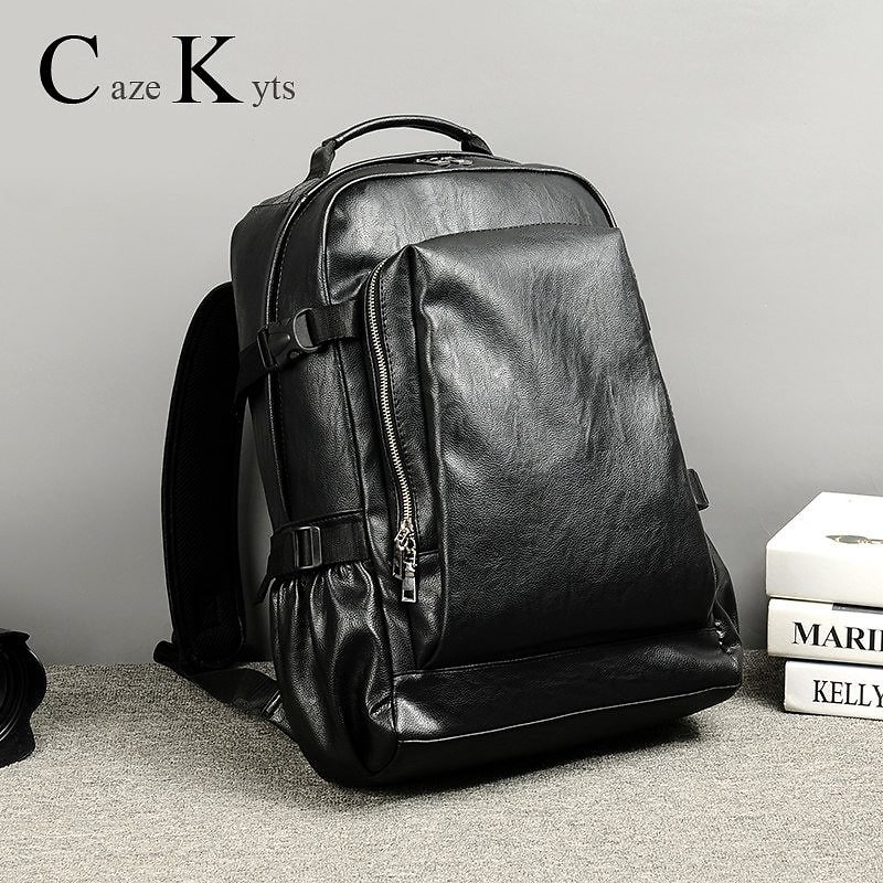 US $30.0 40% OFF Men's Casual Retro Fashion Backpack Travel Backpack Student Bag New Trend Leather Bag Waterproof Computer Bags Free Shipping Backpacks  - AliExpress