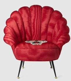 Gucci Moiré Armchair with Embroidered Tiger
