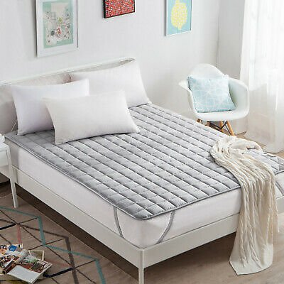 New Arrival Grey Mattress Topper Multi-size Mattress Cover Comfortable Soft Hot