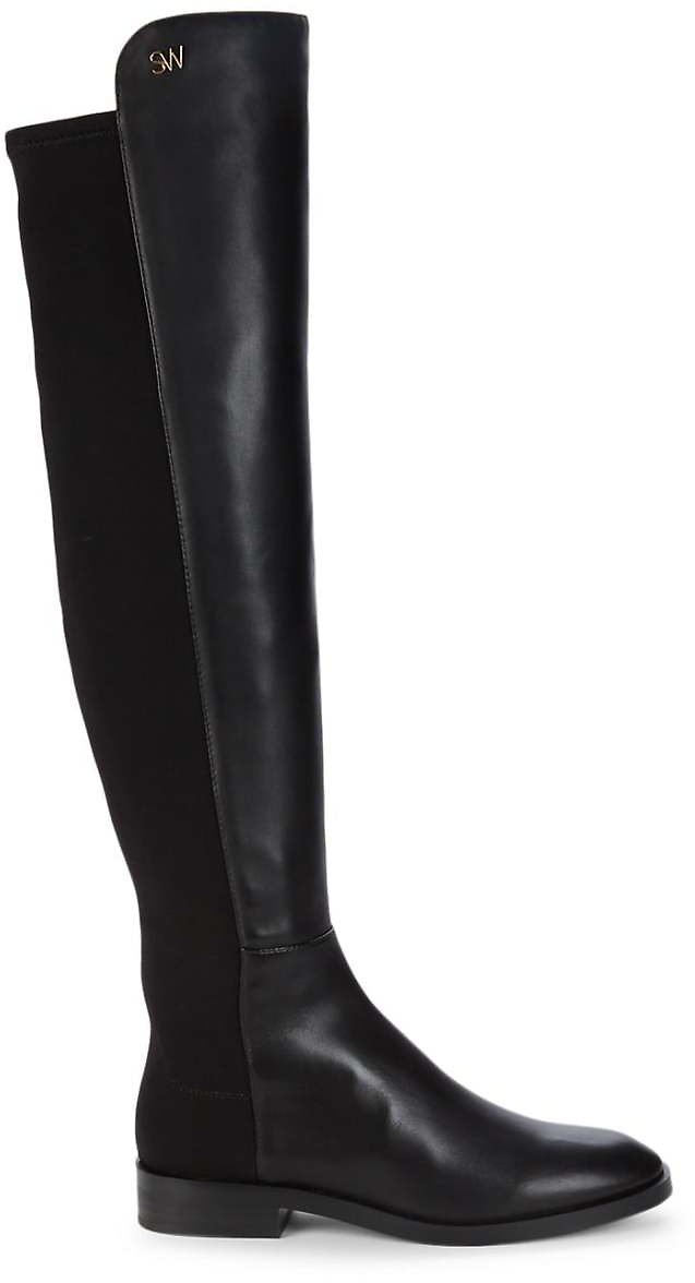 Keelan Leather Over-The-Knee Boots