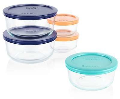 5-PK Pyrex Food Storage Container Set Clear