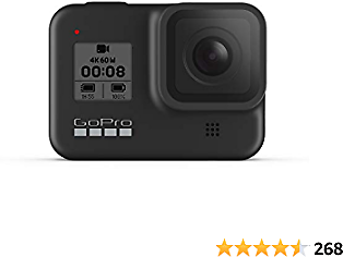 GoPro HERO8 Black - Waterproof Action Camera with Touch Screen 4K Ultra HD 2020