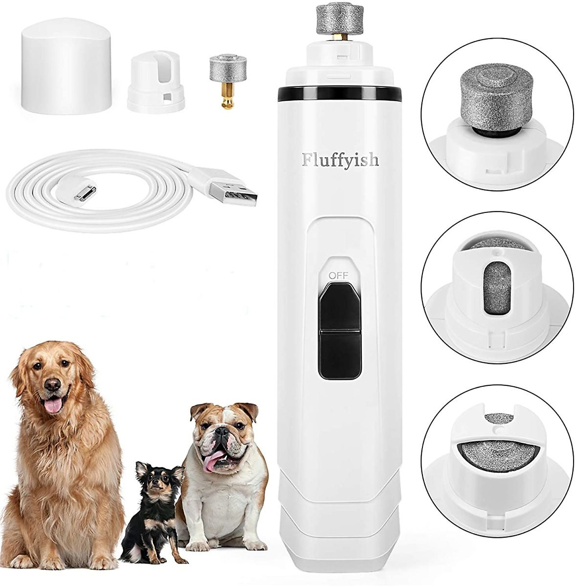 50% Off Rechargeable Dog Nail Grinder with 2-Speed Settings & Long Battery Life