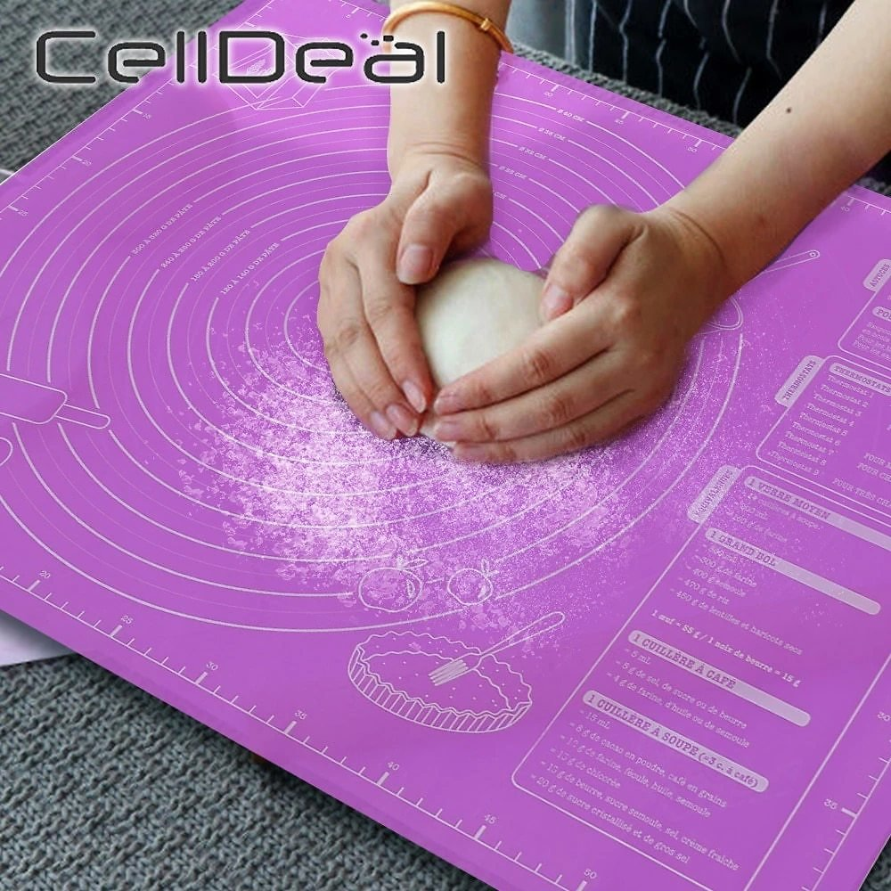 45x60cm Silicone Pad Baking Mat Sheet Extra Large Baking Mat for Rolling Dough Pizza Dough Non-Stick Maker Holder Kitchen Tools