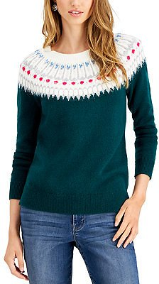 Style & Co Beaded Fair Isle Sweater, Created for Macy's & Reviews - Sweaters - Women