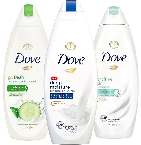 2 for $6 Dove Body Wash (Multiple Scents)
