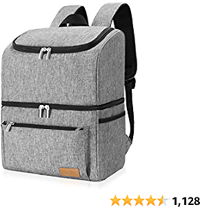 Lifewit Cooler Backpack Leakrproof 32 Can Insulated Lightweight Backpack Cooler, Large Capacity Soft-Sided Double Decker Cooler Bag for Men Women to Beach/Picnic/Camping/Hiking/Day Trips