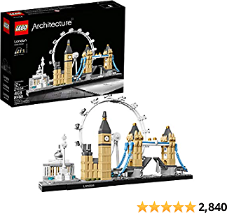 LEGO Best Architecture London Skyline Collection 21034 Building Set Model Kit and Gift for Kids and Adults (468 Pieces)