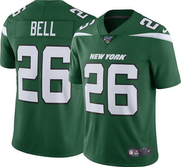 Nike Men's 100th Home Limited Jersey New York Jets Le'Veon Bell #26