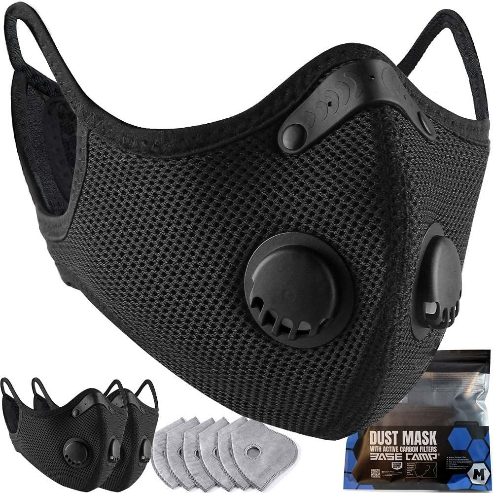 3 Pack BASE CAMP Dust Masks w/ 6 Filters