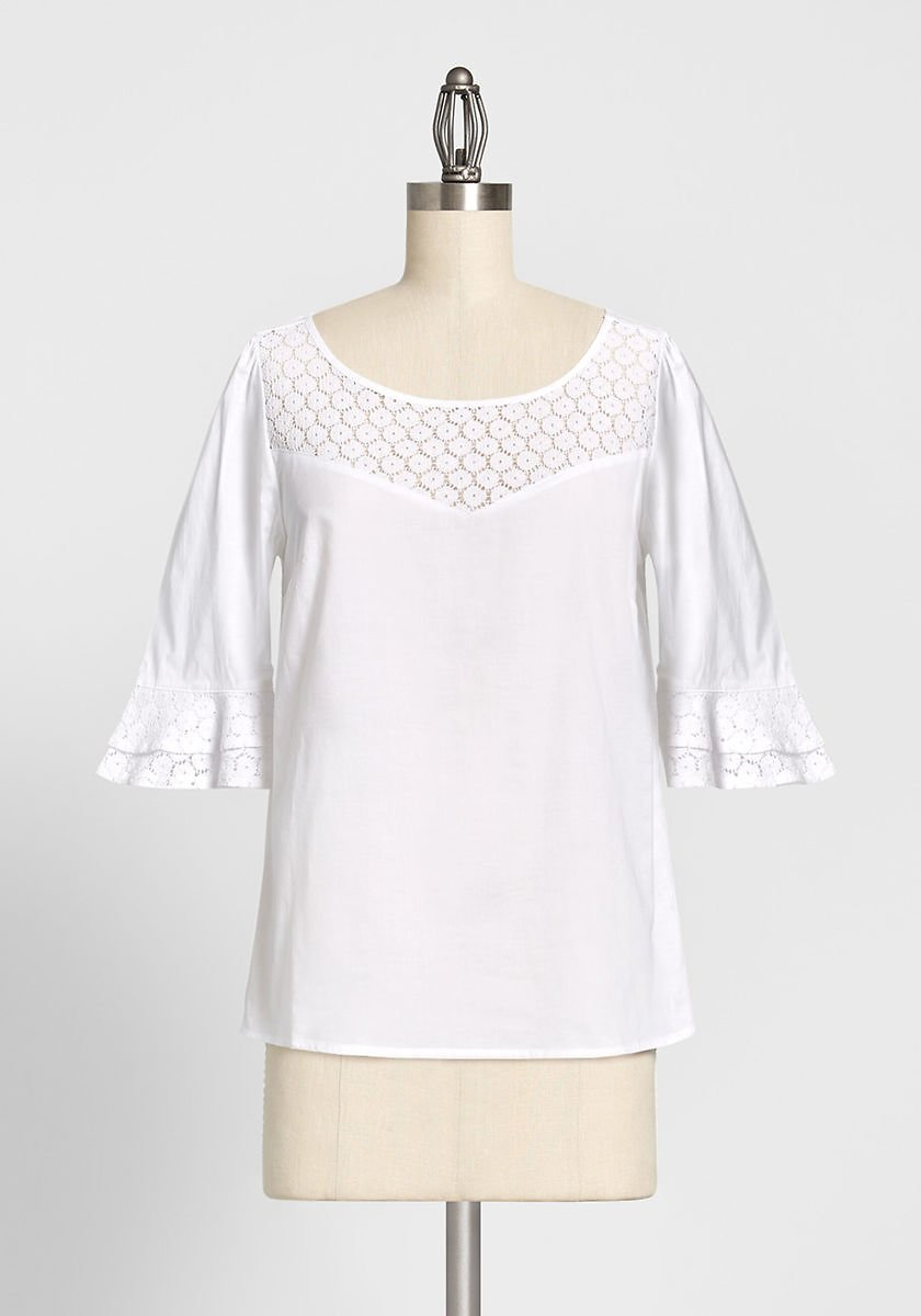 It's The Lace I Could Do Cotton Blouse