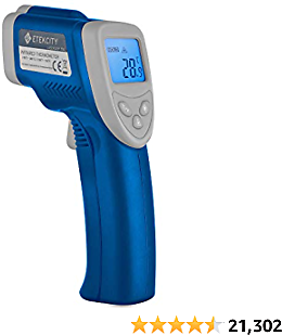 Etekcity Infrared Thermometer 774 (Not for Human) Temperature Gun Non-Contact Digital Laser Thermometer-58℉~ 716℉ (-50℃ ~ 380℃), Standard Size, Blue & Gray