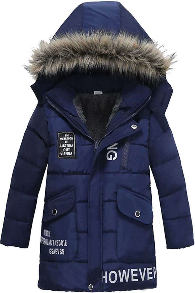 Zumeet Toddler Boys Thick Warm Solid Colored Hood Jacket
